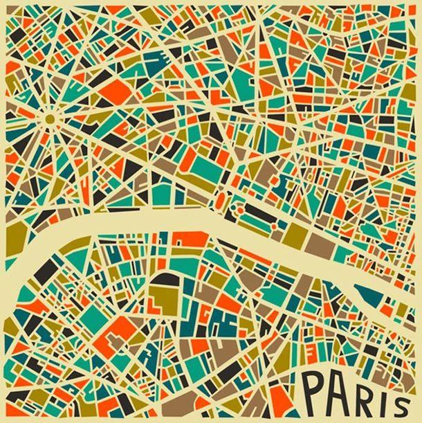 Stylized Map - Paris