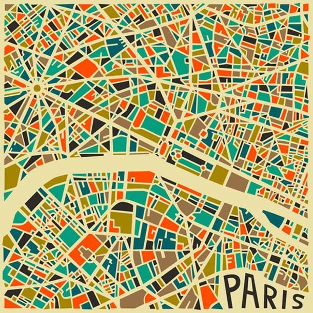Abstract Cities – Les cartes stylisées des grandes villes