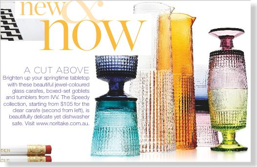 Beautiful goblets and tumblers. Clipped from ©marie claire Australia using Netpage.