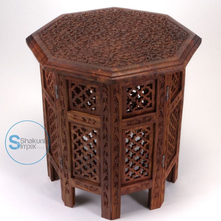 Indian hand carved solid wood side table @shakuntimpex #shakuntimpex #handcarvedfurniture