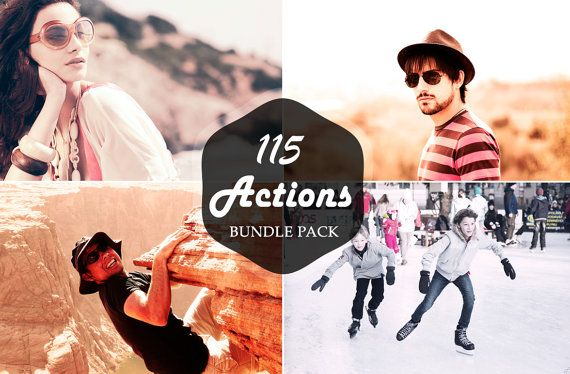 115 Premium Photoshop Actions Bundle by Symufa on Etsy