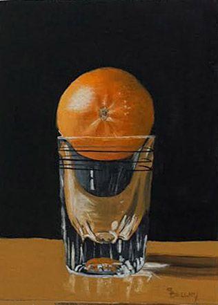 "Oil painting by artist Sherry Bellamy. 5 x 7"". Absolut Mandarin!"