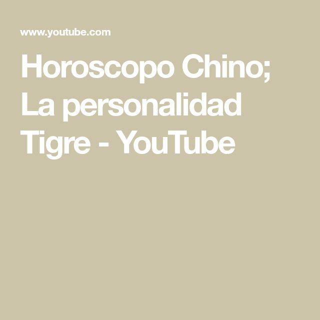 Horoscopo Chino; La personalidad Tigre - YouTube