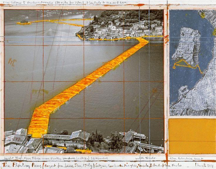 Плавучий пирс Христо и Жанны-Клод: ВИталии поозеру проложили желтые пешеходные дорожки — Meduza