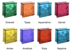 Bring art and color to your glass block designs with these artistically  decorated glass blocks.