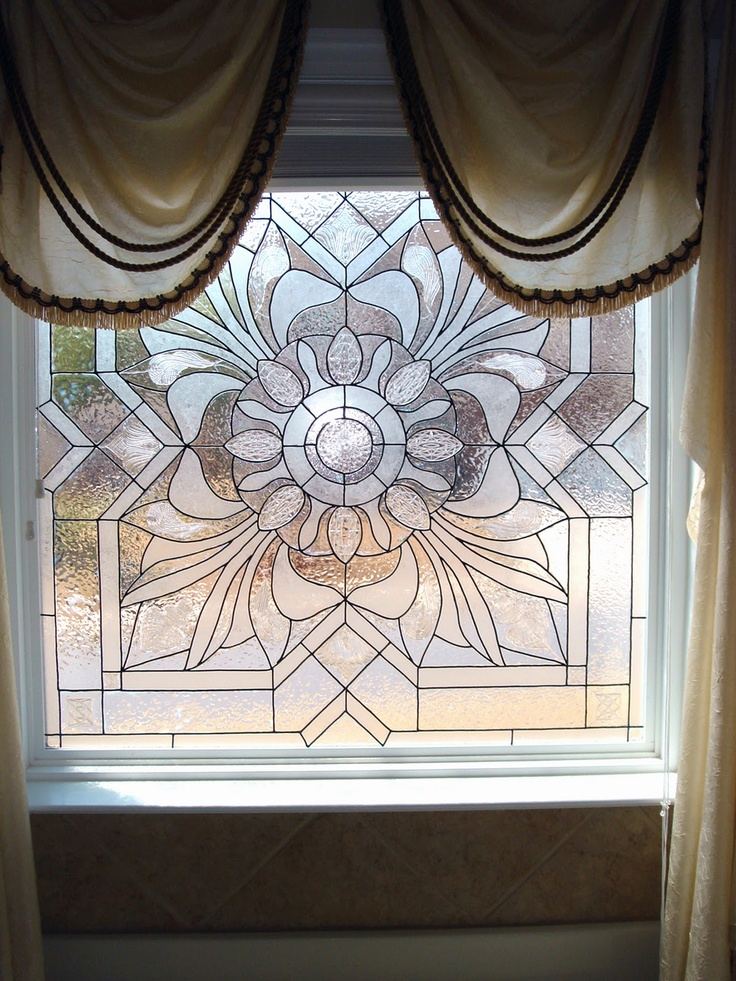 Fake Stained Glass Painting On Glass Windows Glass Art