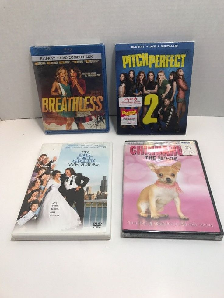 Comedy DVD lot  4 Pitch Perfect 2 Breathless My Big Fat Greek Wedding Chihuahua