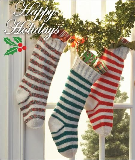 Knitted Christmas Stockings Pattern Knitted Christmas Stocking