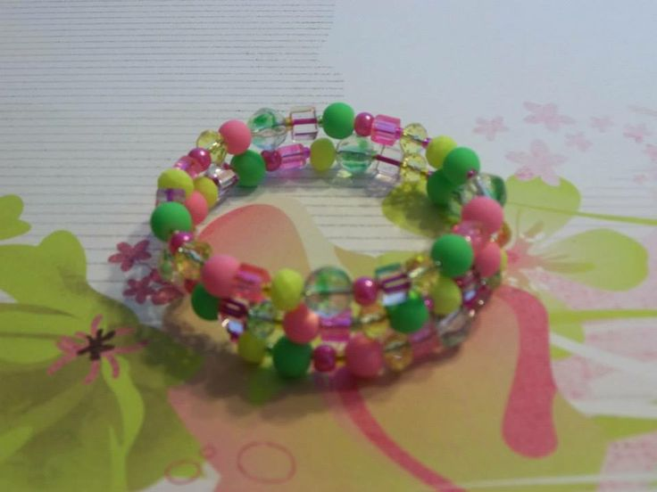 Forget the winter blahs and put on this cheery spring bracelet