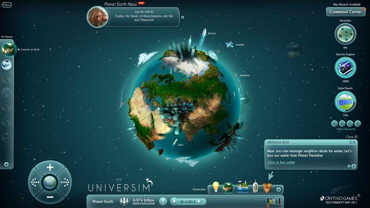 The Universim Game UI Concept by Koshelkov