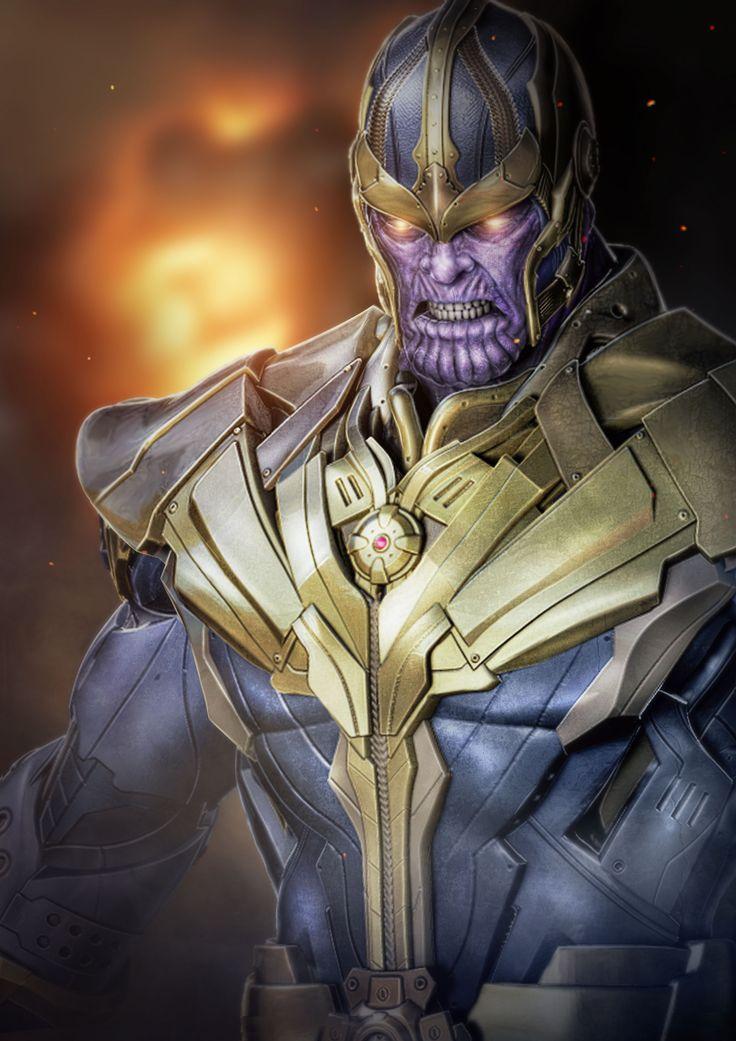 Anime Characters Vs Thanos : Thanos of titan concept art job que fiz lá pro colab de
