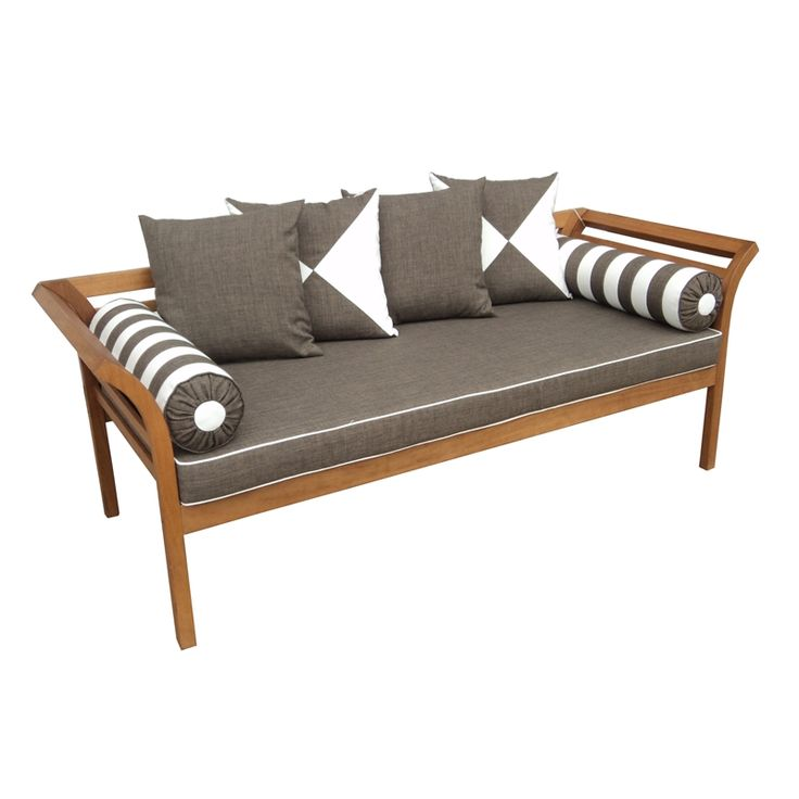 Mimosa Fresco Cushioned Timber Daybed Backyard