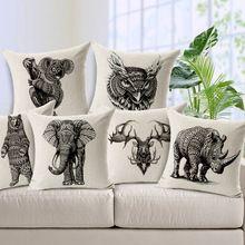2015 zitkussen zonder kern olifant dier decoratieve home decor fauteuil kussens kussens versieren kussen 45* 45cm(China (Mainland))