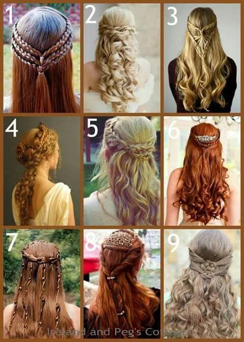 Neun verschiedene keltische Frisuren für Hochzeit und andere Erscheinungen #an