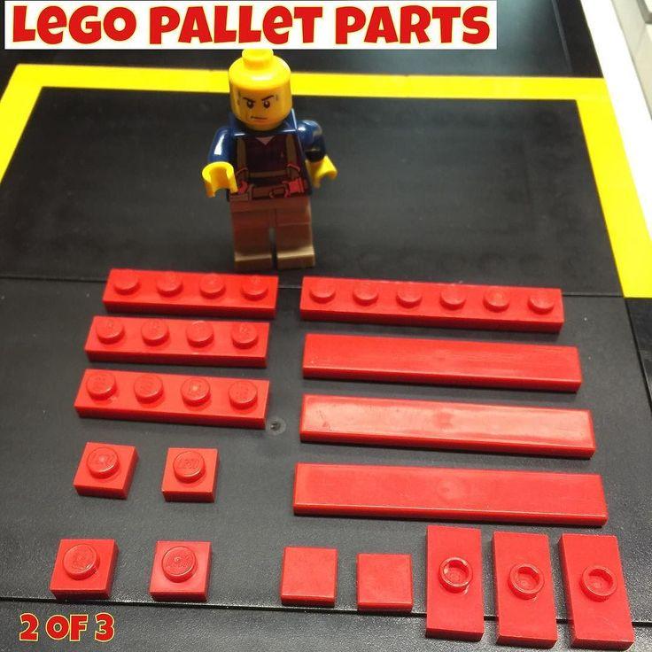 Lego Pallet DIY! My version of a red CHEP pallet. #lego #legominifig #minifig #minigures #minifigs #legocity #bricks #brickcentral #afol  #toycrewbuddies  #legostagram #Legos #brick  let me know if you have a better design! by mrbonesbricks