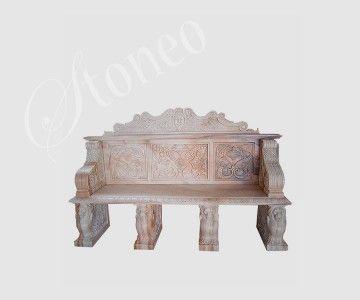 Efez - ławka kamienna