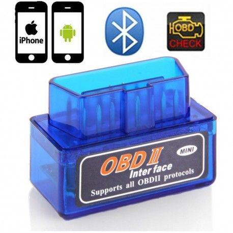 OBDII Bluetooth fejlkodelæser OBDII fejlkodelæser Kan bruges med Android og Iphone Trådløsforbindelse via Bluetooth Aflæs fejlkoder Monitorer motorens værdier