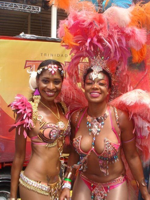 American actress Tatyana Ali (right) at the Trinidad ...