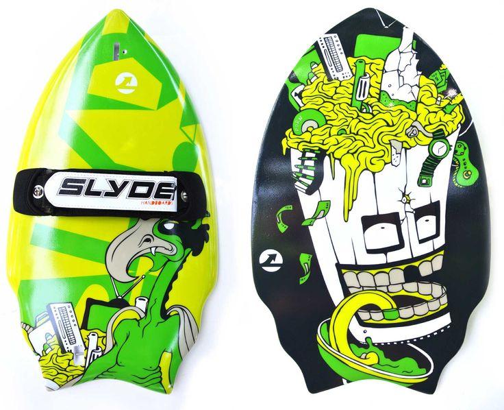 Trash Talk Wedge Handboard For Bodysurfing With Gopro Attachment | Slyde Handboards