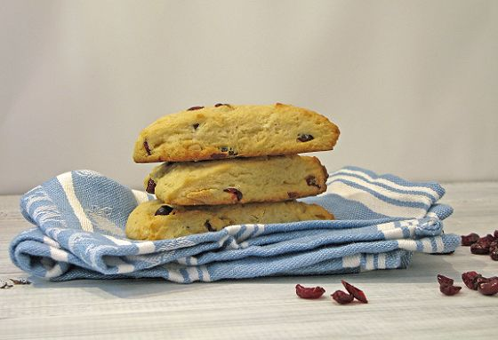 Dense, sweet, tangy.... White Chocolate & Cranberry Scones