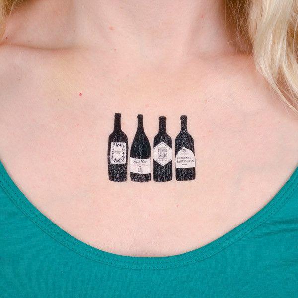 Small Bottle Tattoo: 54 Best Images About Tatuajes Del Vino
