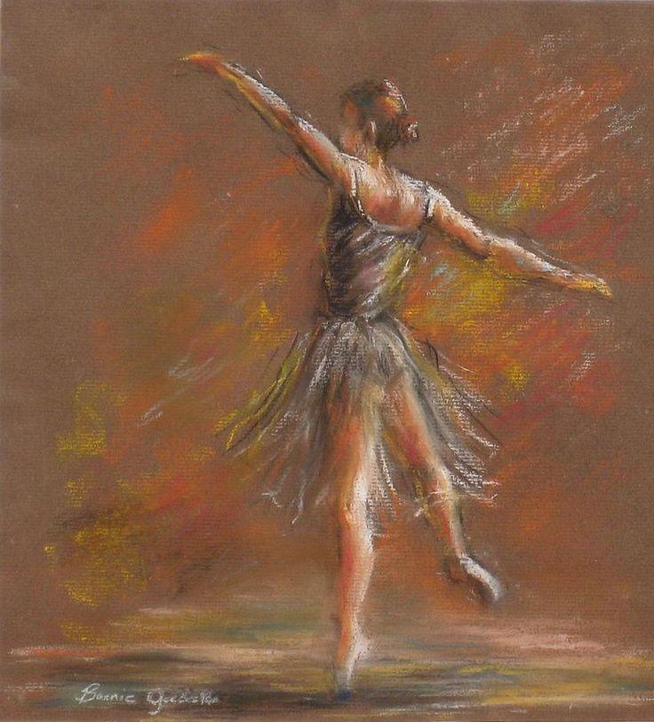 Ballet Dancer Pastel  - Ballet Dancer Fine Art Print