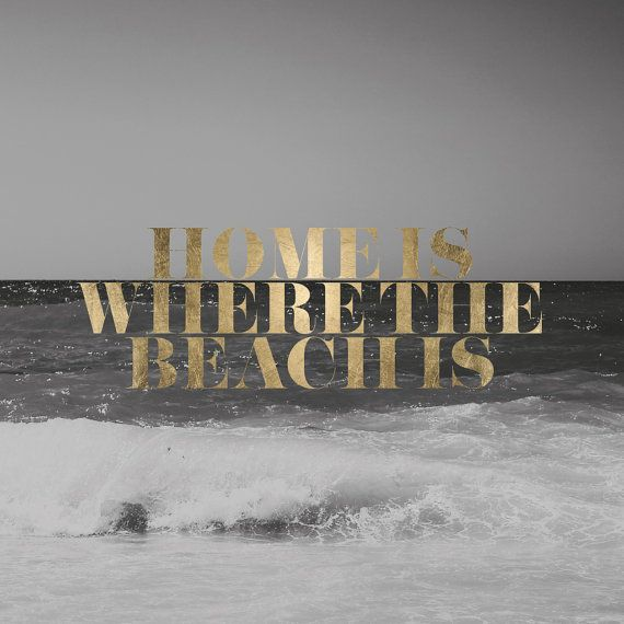 Art Photography Home is where the beach is Gold by MessProject