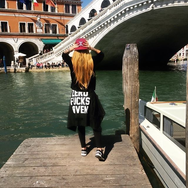 Zero F*** Given ! Venezia - Italia @madriana_ is wearing the IX Cap  #onepiecenorway #fashion #italia #cap #venezia
