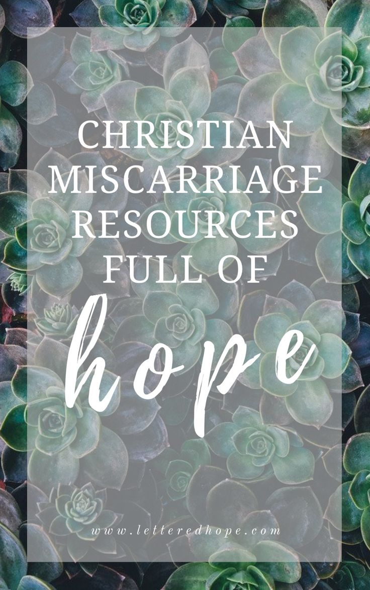 The best list of Christian resources to help women heal as they grieve a miscarriage.