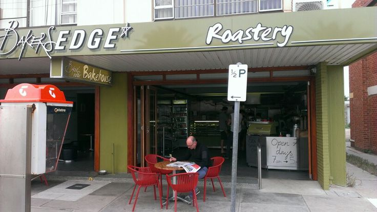 #5 BAKERS EDGE 1/9 West Beach rd, West Beach - what a great find, large selection of pies/pasties, cakes, pastries made on site. Own roasted coffee which tastes superb, the Mega Mug is a challenge. 25/May/2014 - ++++