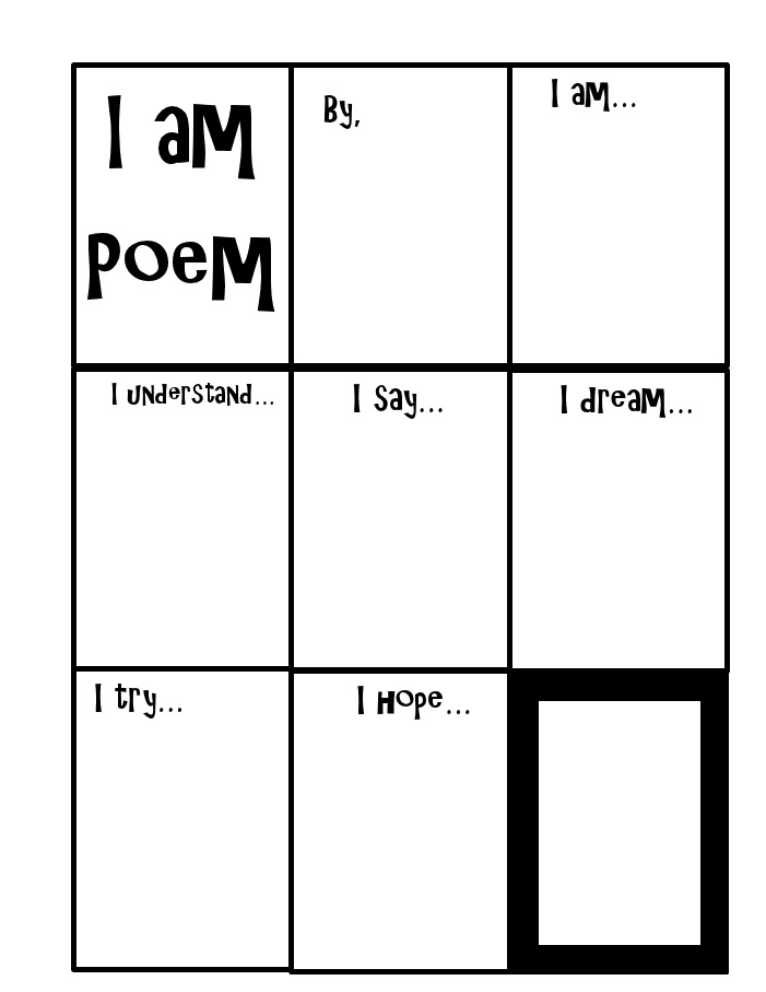 """I am"" poem... can be used in individual and group counseling, as an ""introduction to your school counselor"", or in classroom guidance."