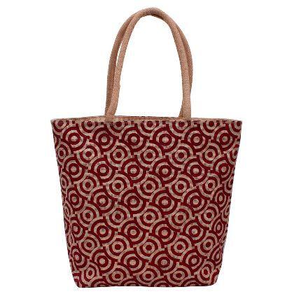 Brown Designer Jute Bag at Utsav Kraft - copy