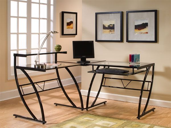 Belaire Glass L Desk
