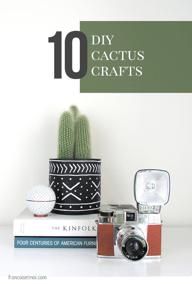 Incorporate a prickly little piece of spring and summer into your home and life with these 10 easy DIY cactus crafts! These tutorial ideas are perfect for gift giving and include party theme, snacks, treats, and home decor!