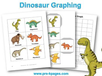 Printable Dinosaur Graphing Activity for #preschool and #kindergarten