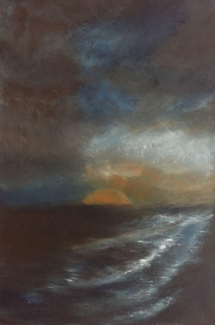 Ocean, oilpaint, 70x50cm