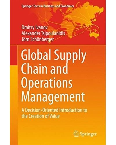GLOBAL SUPPLY CHAIN AND OPERATIONS MANAGEMENT: A DECISION-ORIENTED INTRODUCTION TO THE CREATION OF VALUE de D. Ivanov, A. Tsipoulanidis et J. Schönberger. This textbook presents global supply chain and operations management, combining value creation networks and interacting processes. It focuses on the operational roles in the networks and presents the quantitative and organizational methods needed to plan and control the material, information and financial flows in the supply... Cote : 4-5…
