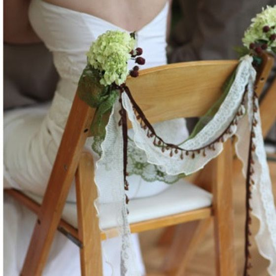 Chair Decoration For The Bride Grooms Chairs