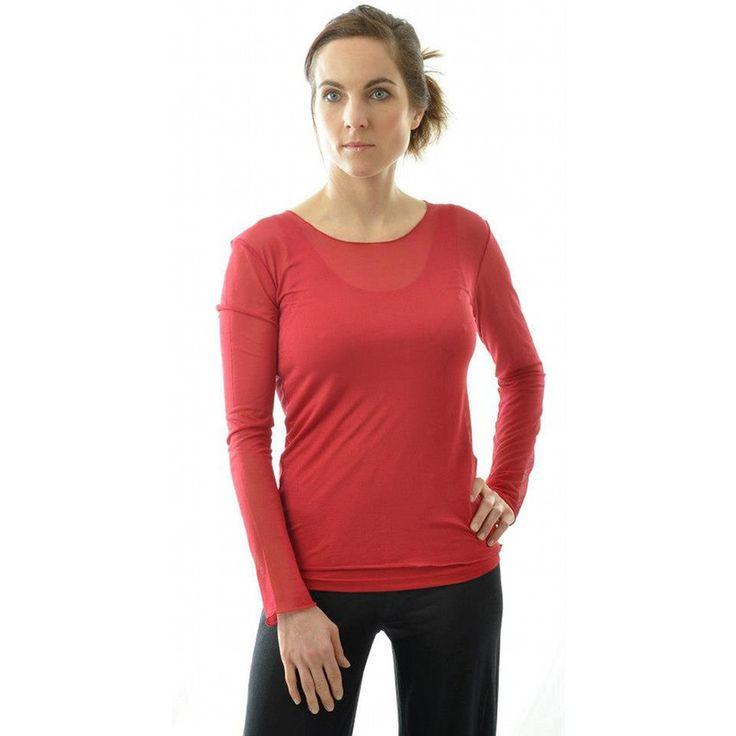 Bio-Seide Langarm-Shirt aus Seiden- Feinjersey von Alkena