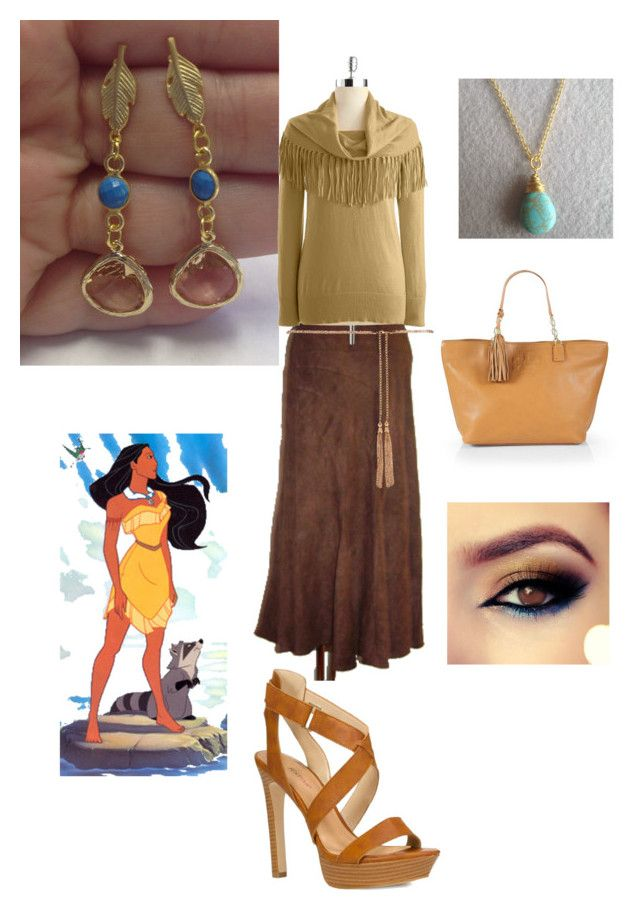 Pocahontas by bijouxetsoirees on Polyvore featuring MICHAEL Michael Kors,  JustFabulous, Tory Burch, Forever