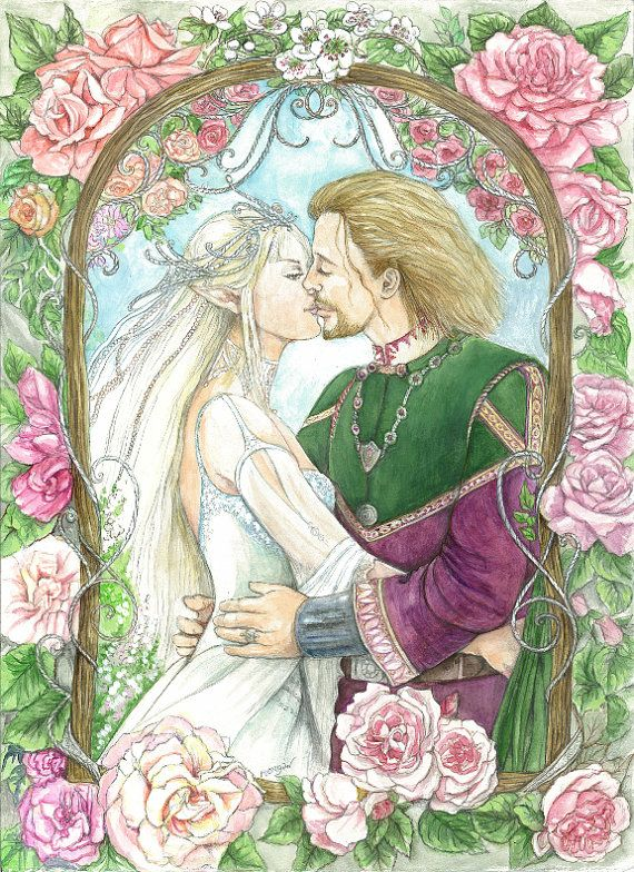 Craft Fabric fantasy wedding print by MorgansFaeWorld on Etsy, £5.99