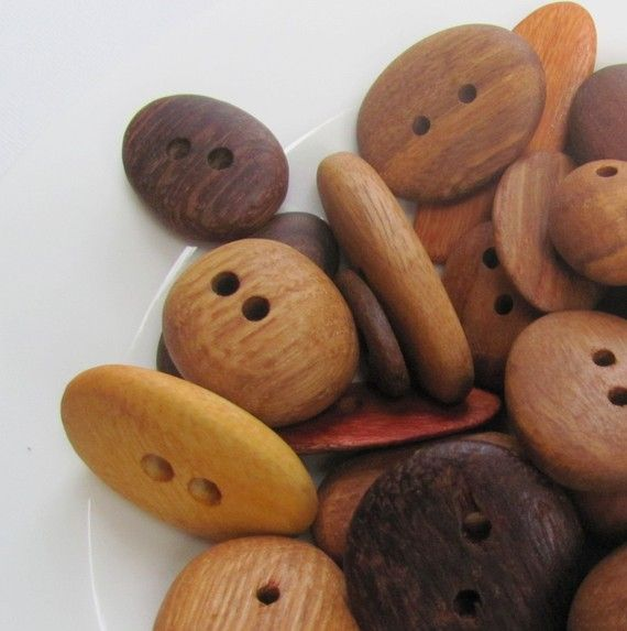 Australian Recycled Timber Wood Buttons x 5 by meluna on Etsy.