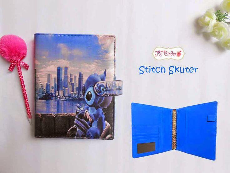Nama  Produk : Binder Stitch Scooter Ukuran   :A5 20ring : 55rb, B5 26 ring : 65rb Bahan  :Kain Satin Deskripsi : 3 slot kartu, 1 slot foto 1 Slot pulpen