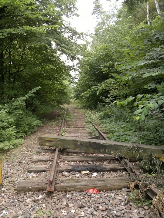Derelict rail track in Næstved, Denmark