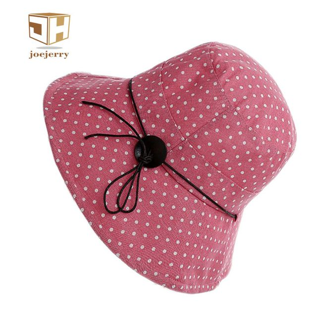 joejerry Women Dot Printed Fisherman Bucket Hat Design Summer Beach Hats UV Protection For Girl  #joejerry #Bucket_Hats #women_clothing #stylish_Bucket_Hats #style #fashion
