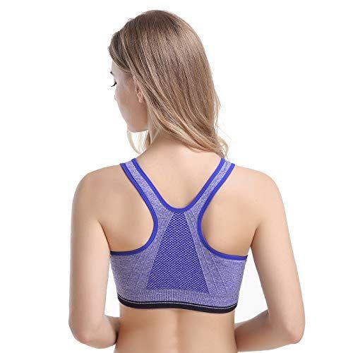 654f33759c Cutadorns Women Seamless Front Zipper Racerback Sports Bras - High Impact  Workout Gym Yoga Activewear Plus