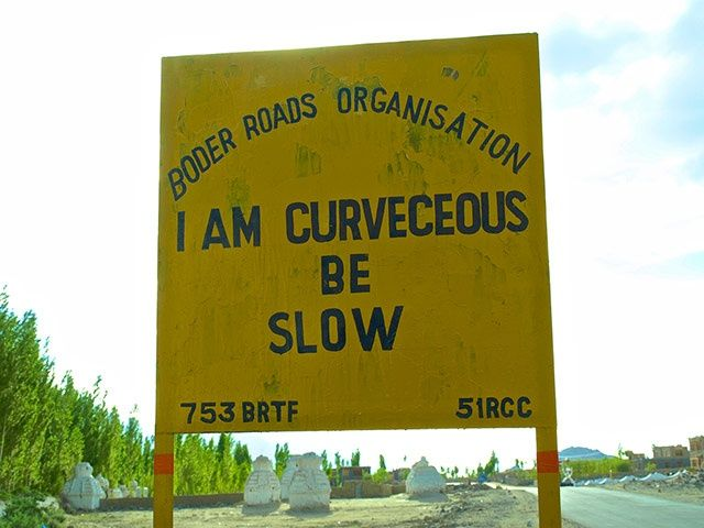India road signs: I am curveceous