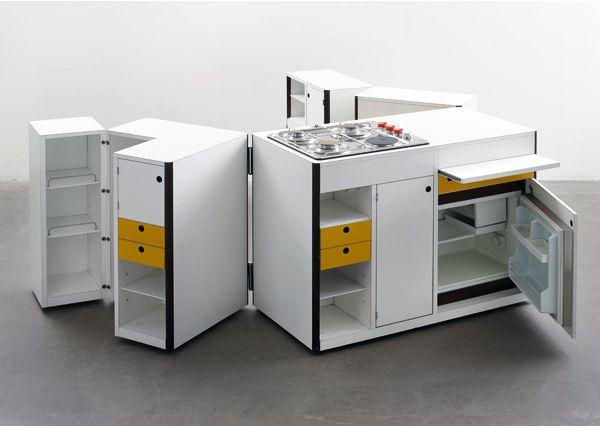 Virgilio Forchiassin (Italian). Spazio Vivo (Living Space) Mobile Kitchen Unit. 1968. Manufactured by Snaidero (Italy).