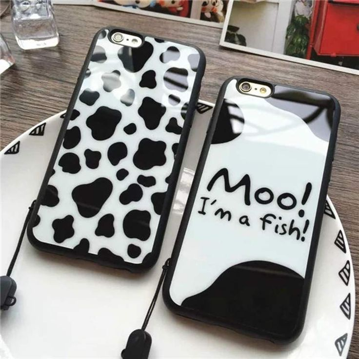 Hot sale! Cartoon light spot dairy cow Soft Silicone Phone Case For iPhone 5 5s 6 6s 6Plus Back Cover Protective shell coque