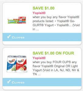High Value Yoplait Coupons for HOT Commissary Deals like 14¢ Yogurt!